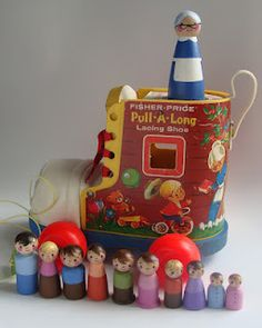 Pull a-Long Lacing Shoe ~ The little old lady who lived in a shoe, would love to find one of these!