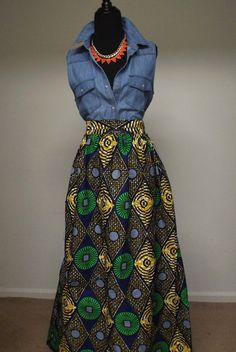 Hey, I found this really awesome Etsy listing at https://www.etsy.com/listing/179289355/chic-high-waist-african-print-maxi-skirt
