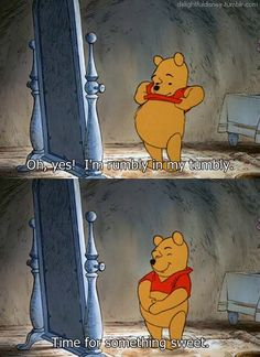 I will say this from now on whenever I am hungry hahaha I love Winnie the Pooh