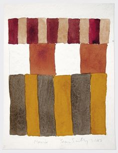 SEAN SCULLY -- Mexico 3.1.85 1985 Watercolor on paper 12 x 9 in (30.5 x 22.9 cm)