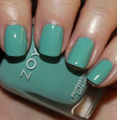 Zoya Wednesday. This is a beautiful aqua cream that is flattering on all skin tones. The formula is insanely good, almost a one coater. I adore this color and will be sporting it all spring/summer!