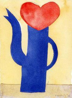 With love - 2002 -19,2 x 14,2 cm aquarel