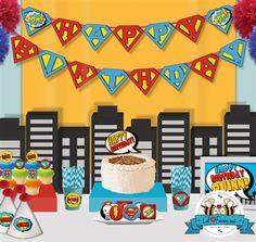 Superhero Birthday Party Package