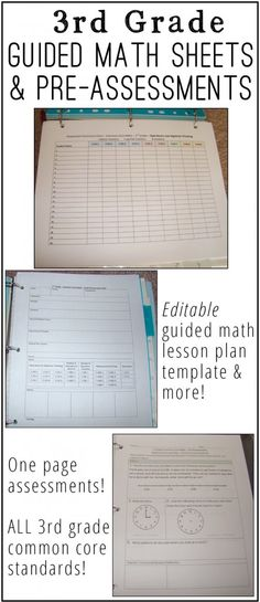 Guided Math Weekly Lesson Planning Template Each day, Feature and 1 - math lesson plan template