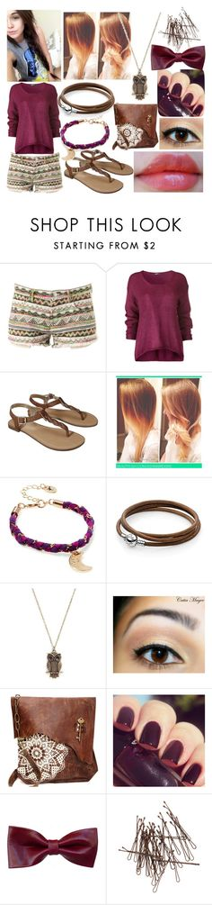 """""""margo"""" by nothing-better-than-a-riddle ❤ liked on Polyvore featuring Merona, Brinley Co, Jack Wills, Pandora, Revlon, Lancôme, Terracotta New York and H&M"""