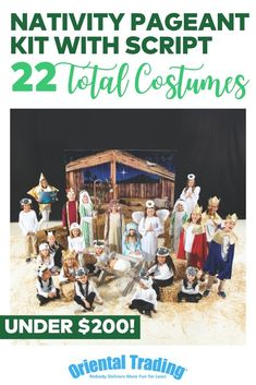 Mega Nativity Pageant Kit with Script Simple Christmas, Christmas Ideas, Christmas Pageant, Oriental Trading, Script, Nativity, Kit, Costumes, How To Plan