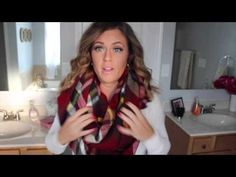 How To: Wear a Blanket Scarf - YouTube