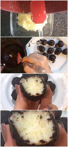 BOMBOM PRESTÍGIO LOW CARB #bombom #chocolate #lowcarb #receita #gastronomia #culinaria #comida #delicia #receitafacil