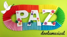dia de la paz manualidades Peace Crafts, Arts And Crafts, Diy Crafts, Independence Day, Origami, Frame, Puerto Rico, Videos, Good Ideas