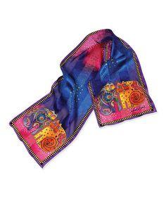 Love this Blue Kindred Felines Silk Scarf on #zulily! #zulilyfinds