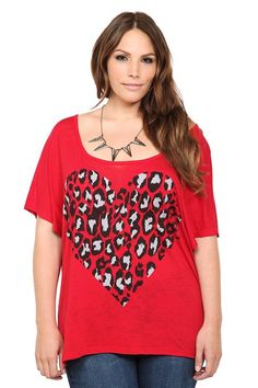 0ef6391e299 Leopard Heart Bow Back Scoop Dolman Tee Bow Back