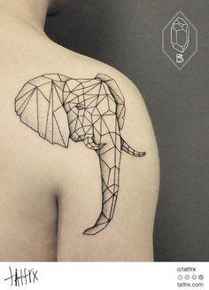 Submission by bicem-sinik Bicem Sinik - Polygonal Elephant tattrx.com/artists/bicem-sinik