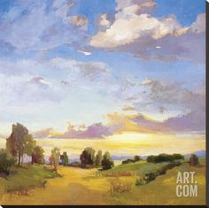 Golden Horizons Stretched Canvas Print by Vicki Mcmurry at Art.com