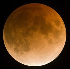 This view of a total lunar eclipse was taken with a Nikon DSLR using the prime focus of an 8-inch reflecting telescope.