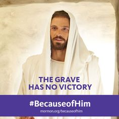 The grave has no victory. #BecauseofHim