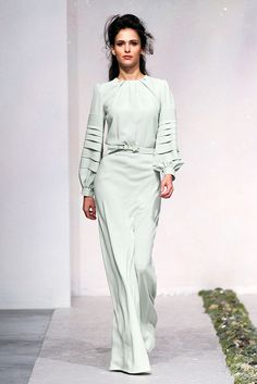 LUISA BECCARIA Fall 2012 - If this were mid calf, I would wear it to work!  LOVE THIS.