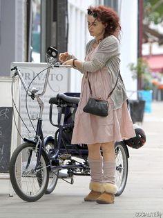 Helena Bonham Carter Tricycle