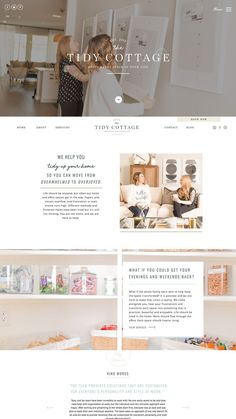 Cozy chic website design for home organizing company Web hosting at arwebhosting Web Design Trends, Web Design Tips, Home Design, Design Blogs, App Design, Branding Design, Design Ideas, Web Design Services, Dashboard Design