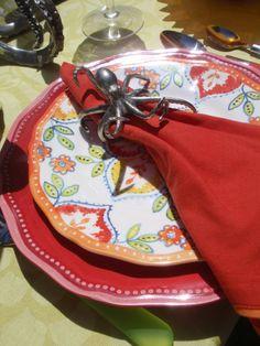 octopus napkin ring + Le Cadeaux Melamine place setting