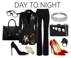 """Day to Night: Holiday Party"" by gogotasha ❤ liked on Polyvore featuring MICHAEL Michael Kors, Ray-Ban, Alexander McQueen, STELLA McCARTNEY, Christian Louboutin, Gianvito Rossi, Michael Kors, Nisan, Bling Jewelry and RedShoes"
