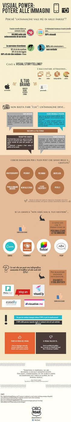visual power, potere alle immagini! #visualstorytelling infografica