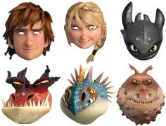 How To Train Your Dragon Costume Face Mask Halloween Hiccup Astrid Toothless