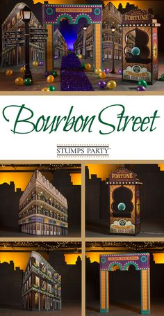 Take your guests down Bourbon Street with our Bourbon Street Hideaway theme kit!  Complement your event with personalized Mardi Gras favors, invitations, and more! Shop all of our Mardi Gras party supplies to make your event complete!