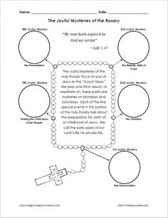 Printables Parts Of The Rosary Worksheets catholic mass booklet the order of for children joyful mysteries rosary cut and paste activity religious education resources teachers