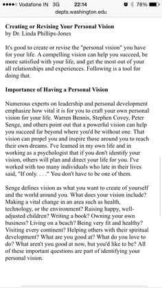 MissionPersonal Vision Statement   Soft Skills