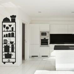 Vinilo decorativo armario de cocina. Masquevinilo.com