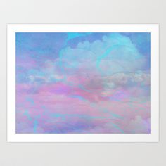 Marble Sky Abstract Art Print by Judy Palkimas