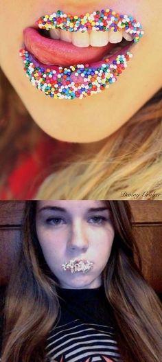 9. #Saupoudrer les lèvres - 41 #Pinterest hilarant #échoue... → #Funny