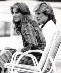 Princess Diana with Sarah Feguson. i want a picture with my best friend just like this! FUN