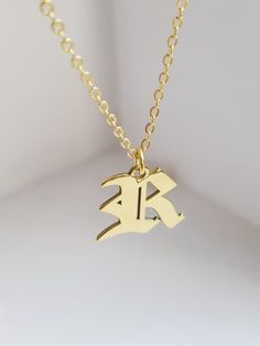 Items similar to Initial Necklace letter Jewelry Initial Pendant Letters Letter English Necklace Old English Font Letter Jewelry your my name initial letter on Etsy Initial Jewelry, Initial Pendant, Handmade Necklaces, Handmade Jewelry, Unique Jewelry, Mens Link Bracelet, Letter Necklace, Chains For Men, Personalized Jewelry