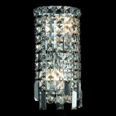 Elegant Lighting 2031W 2 Light Maxim Crystal Wall Sconce, Clear