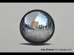 Cómo dibujar una esfera cromada con colores