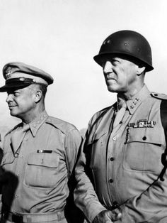 Generals George S. Patton and Dwight D. Eisenhower