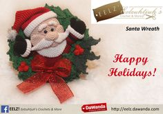 Kerstkrans Kerstman - Crochet Pattern van Eelz! - Eelzuhtjuh's Crochet & More op DaWanda.com