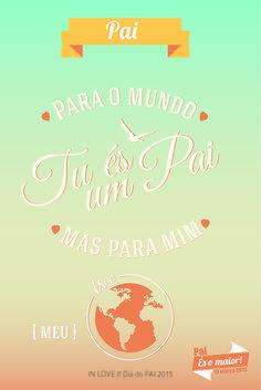Dia do Pai com Amor // Free Printable 2015