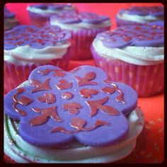 Cupcakes de te turco de manzana. Apple Turkish tea cupcakes