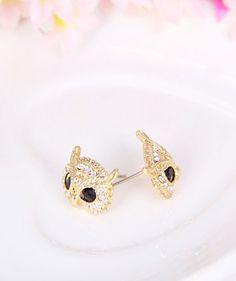 Yasurs™ 2014 New Arrival Fashion Elegant Inlay Rhinstone Owl Head Statement Earring. http://www.yasurs.com/yasurstm-2014-new-arrival-fashion-elegant-inlay-rhinstone-owl-head-statement-earring.html #jewelry