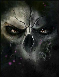 Darksiders 2 - Death by AdovionArt on DeviantArt Dark Gothic, Gothic Art, Dark Fantasy Art, Dark Art, Totenkopf Tattoos, Skull Wallpaper, Airbrush Art, Skull Tattoos, Grim Reaper