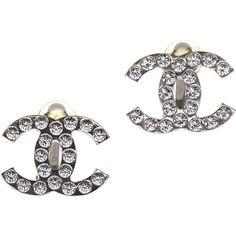 Pre-owned Chanel Earrings ($489) ❤ liked on Polyvore featuring jewelry, earrings, accessories, chanel, apparel & accessories, silver, clip on earrings, chanel earrings, clip back earrings and earrings jewelry