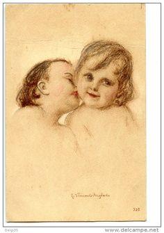 Vincent-Anglade -Portraits d'enfants s'embrassant - Delcampe.net
