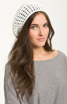 Cara Accessories 'Crochet' Beanie available at #Nordstrom