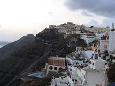Santorini, Greece - A Dream come true.  Went up the mountain steps on a mule and a Hail Mary.  I can't begin to describe the beauty.