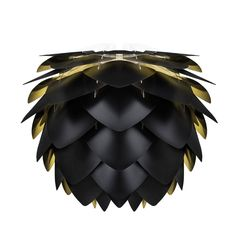 Abajur Silvia Black and Gold M Ceiling Lamp Shades, Ceiling Lights, Home Comforts, Black Lamps, Nordic Design, Floor Rugs, Decoration, Black Gold, Minimalism
