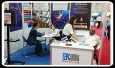 Visitors are interacting in the EEPC INDIA Booth.
