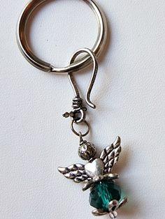 """Schutzengel"""" - grün Schlüsselanhänger"""