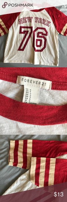Forever 21 Baseball Tee ⭐️⭐️⭐️⭐️⭐️ Rating 💯 Shop with confidence  📦 Ship same day / next day 🛍 Bundle & save ⛔️ trades ⛔️ lowball offers Forever 21 Tops Tees - Short Sleeve
